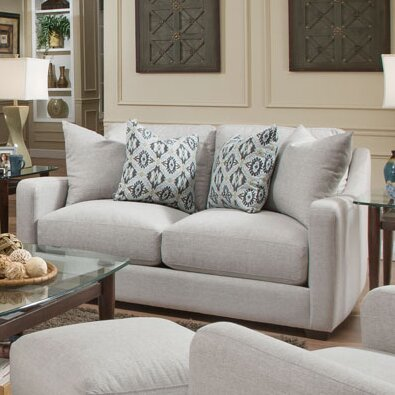High-quality Charlaine Loveseat by Bungalow Rose by Bungalow Rose