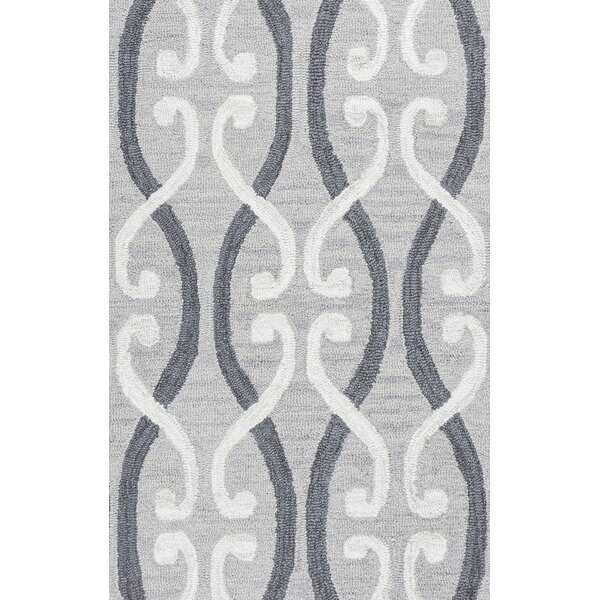 Newport Hand-Tufted Gray Area Rug by House of Hampton