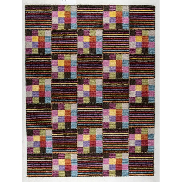 Khema 4 Hand-Woven Purple/Brown/Green Area Rug by M.A. Trading
