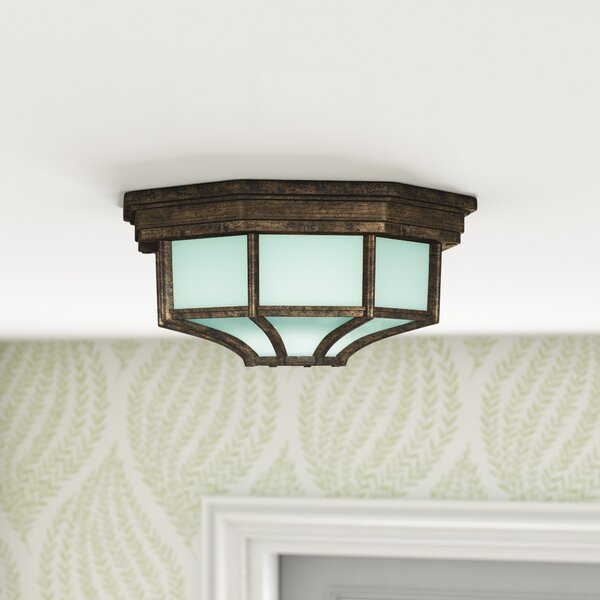 Dario Outdoor Flush Mount by Fleur De Lis Living