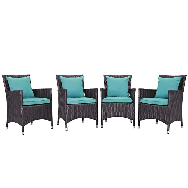 Ryele Deep Seating Chair with Cushion (Set of 4) by Latitude Run