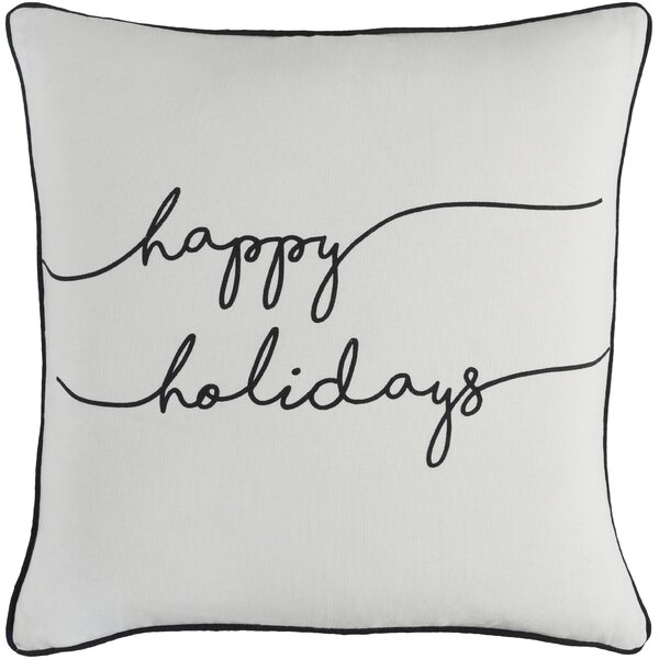 Draeger Holiday Cotton Throw Pillow by The Holiday Aisle