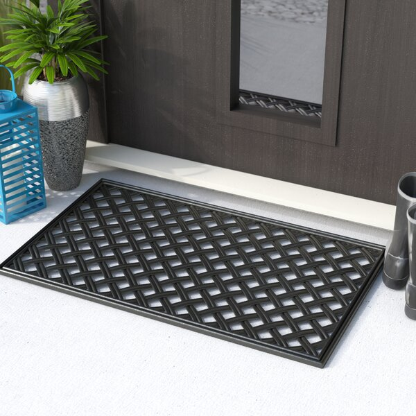 Goehring Lattice Wrought Iron Rubber Doormat by Ch