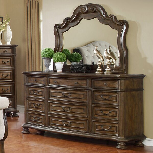 Niall 12 Drawer Dresser with Mirror by Charlton Home