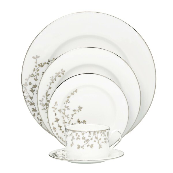 Gardner Street Platinum Bone China 5 Piece Place Setting, Service for 1 by kate spade new york