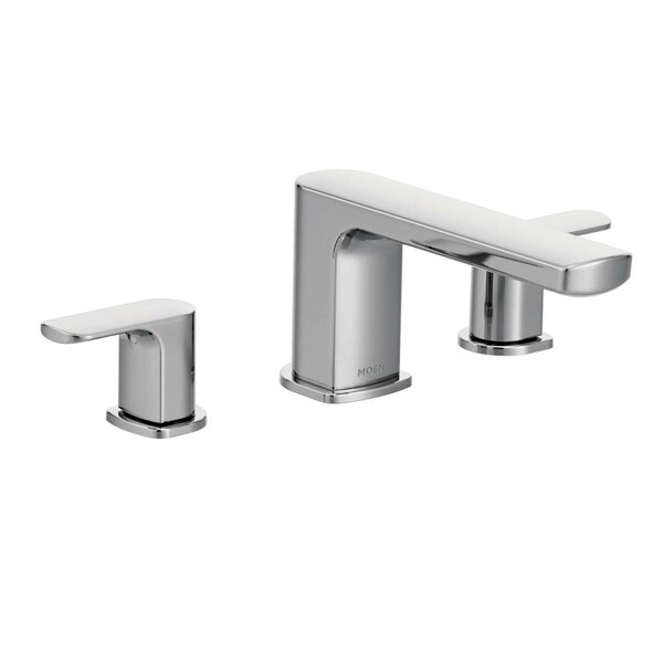 Rizon Double Handle Deck Mount Tub Only Faucet Trim by Moen
