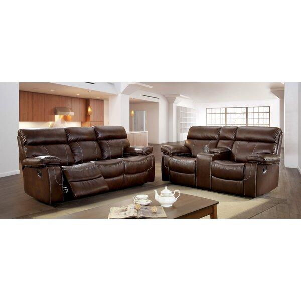 Kian Reclining Leatherette Living Room Set by Winston Porter