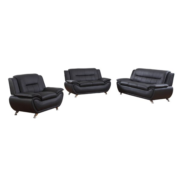 Kirkendall 3 Piece Configurable Living Room Set by Orren Ellis