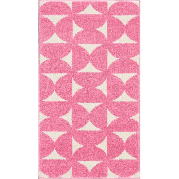 Petrina Pink Area Rug by Wrought Studio