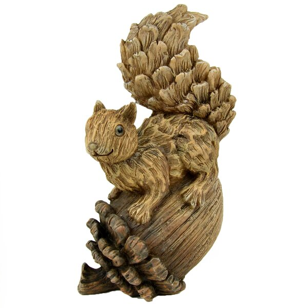 Marvin Squirrel Décor Figurine By Millwood Pines by Millwood Pines Purchase