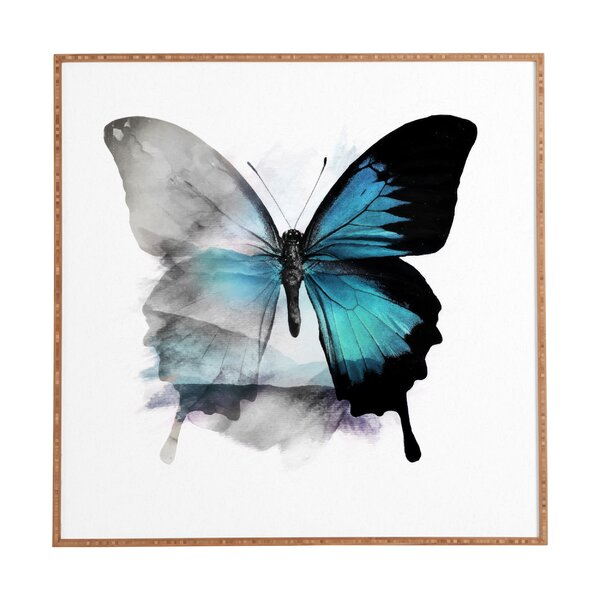 The Blue Butterfly Framed Painting Print by East Urban Home