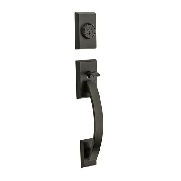 Tavaris Signature Series Single Cylinder Handleset with Trim and Smartkey, Exterior Handle Only by Kwikset