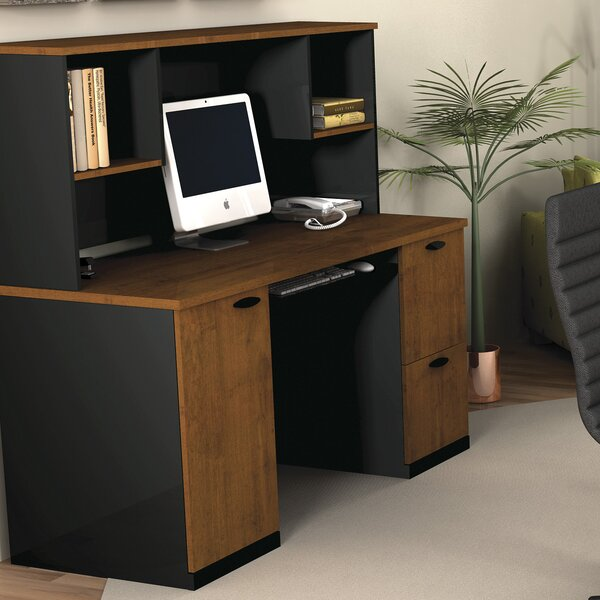 Hampton Computer Desk with Hutch by Bestar