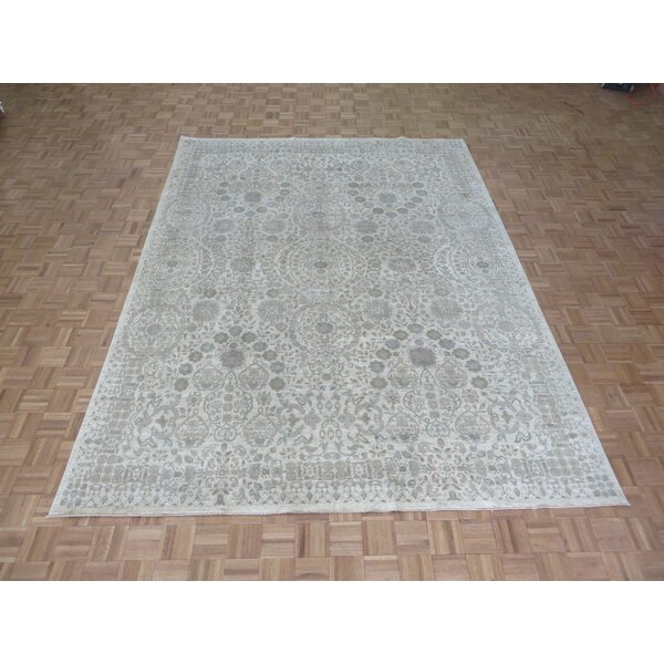 One-of-a-Kind Josephson Peshawar Hand-Knotted Wool Ivory Area Rug by Canora Grey