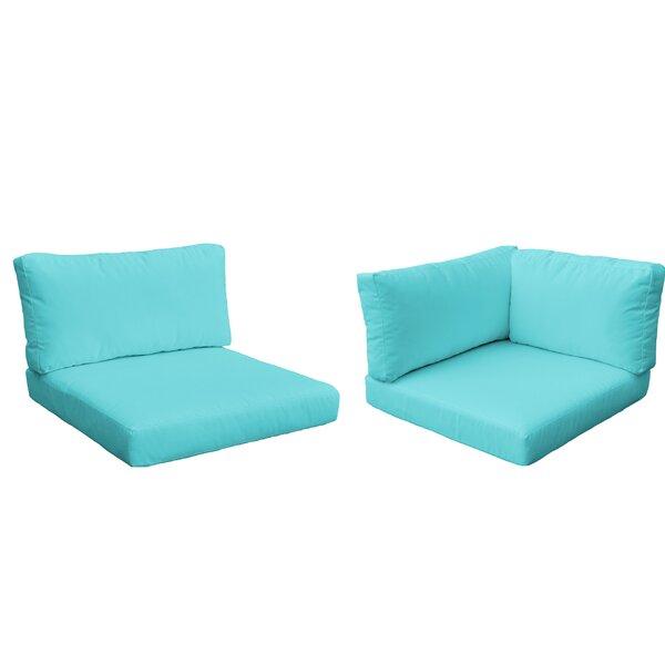 Monaco Outdoor 8 Piece Lounge Chair Cushion Set by TK Classics