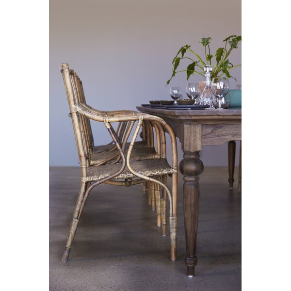 Ambash Solid Wood Dining Table by Loon Peak