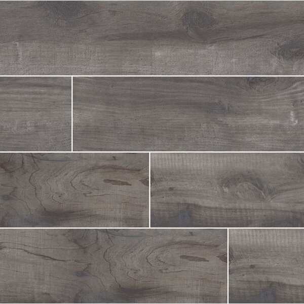Country River 6 x 36 Porcelain Wood Tile in Mist by MSI