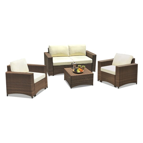 Defranco Modular 4 Piece Sofa Seating Group with Cushions by Highland Dunes