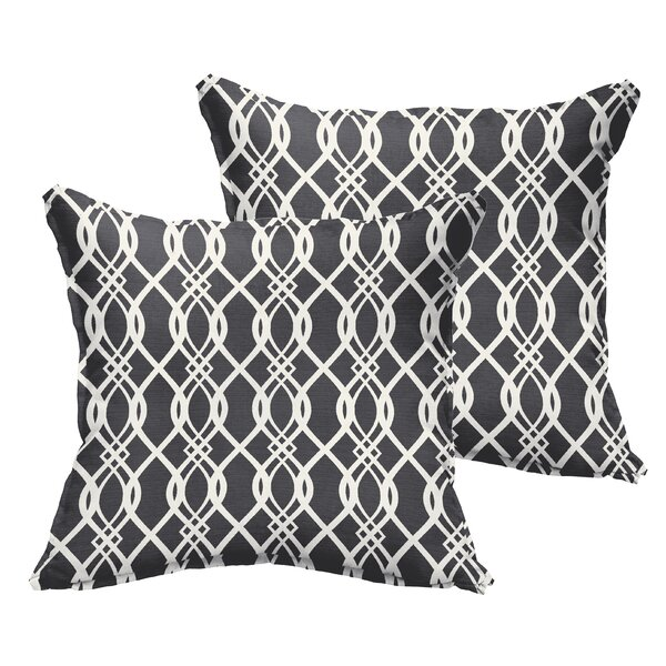 Byron Indoor/Outdoor Throw Pillow (Set of 2) by Darby Home Co