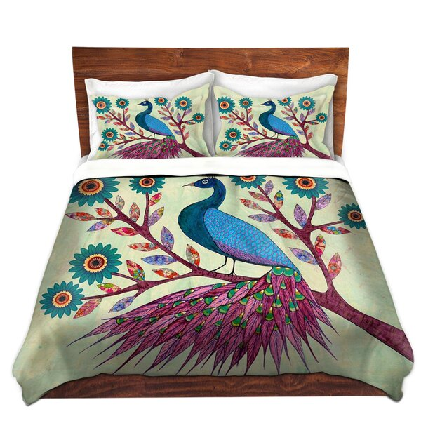 Blue Peacock Duvet Cover Set