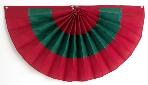 3 Stripe Pleated Flag by Independence Bunting and