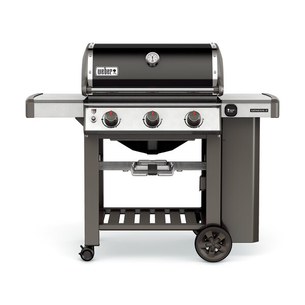 Genesis II E-310 3-Burner Propane Gas Grill with Side Shelves by Weber