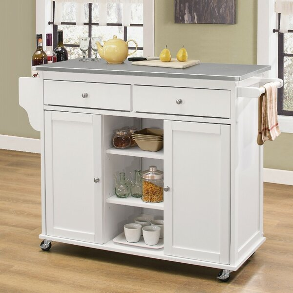 Find Krull Kitchen Cart With Stainless Steel Top By Alcott Hill Comparison