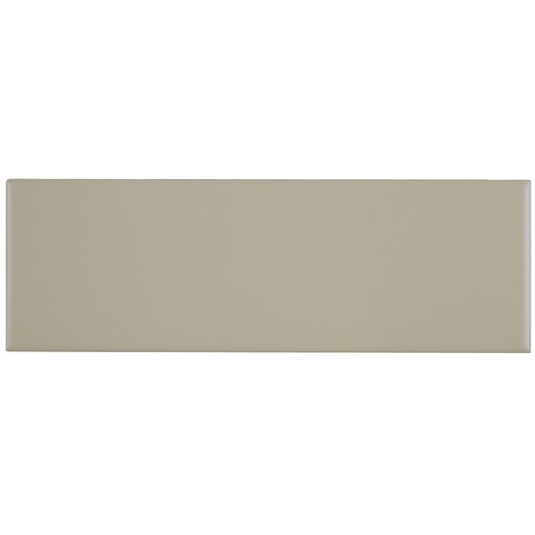 Berkeley 4 x 12 Ceramic Subway Tile in Matte Urban Putty by Itona Tile