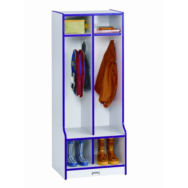 Rainbow Accents 3 Tier 2 Wide Home Locker by Jonti-Craft