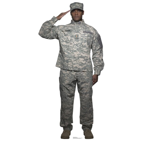 Digital Camo Soldier Life Size Cardboard Cutout Standup by Advanced Graphics