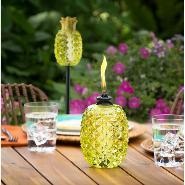Aloha Pineapple Glass Garden Torch (Set of 2) by TIKI Brand
