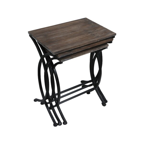 Emelina 3 Piece Nesting Table Set by Winston Porter