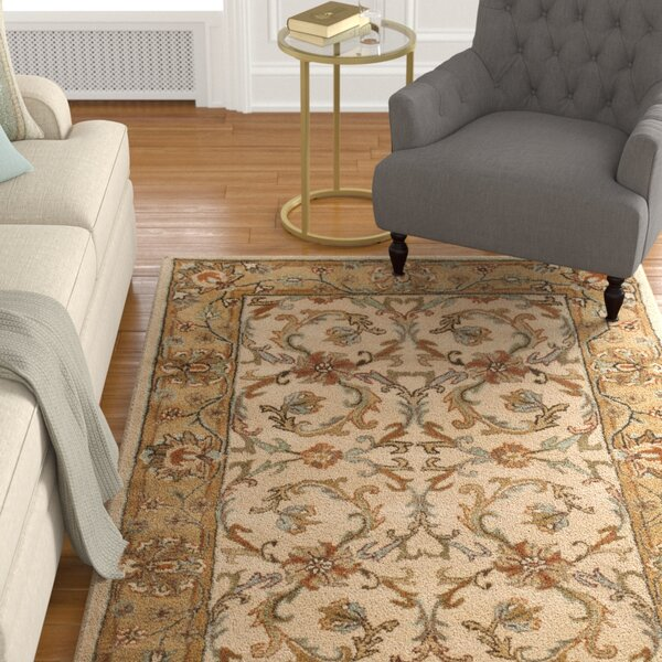 Cranmore Beige/Gold Area Rug by Charlton Home