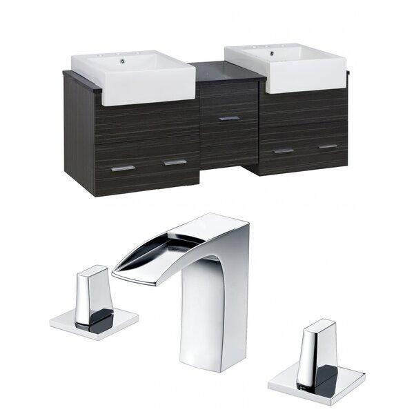 Xena Farmhouse 62 Double Bathroom Vanity Set by American Imaginations
