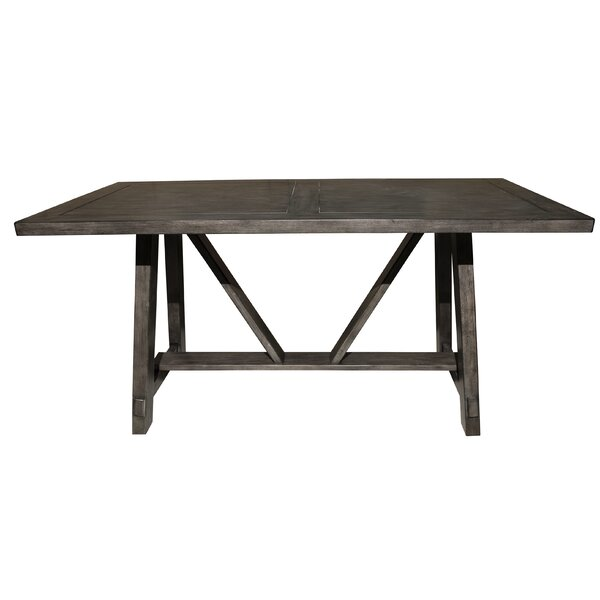 Leming Farmhouse Style Trestle Dining Table by Gracie Oaks