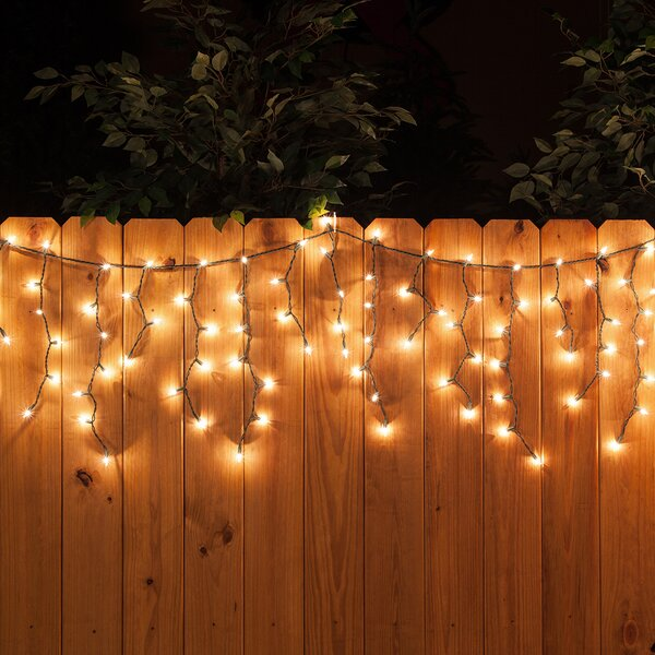 LED 70 Light Faceted Bulb Icicle Light by The Holiday Aisle