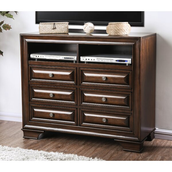 Rector Transitional Media 6 Drawers Dresser by Charlton Home