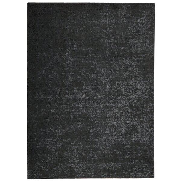 Maya Labradorite Hand Woven Wool Black Area Rug by Calvin Klein