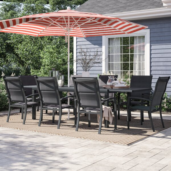 Ashwell 9 Piece Dining Set by Sol 72 Outdoor