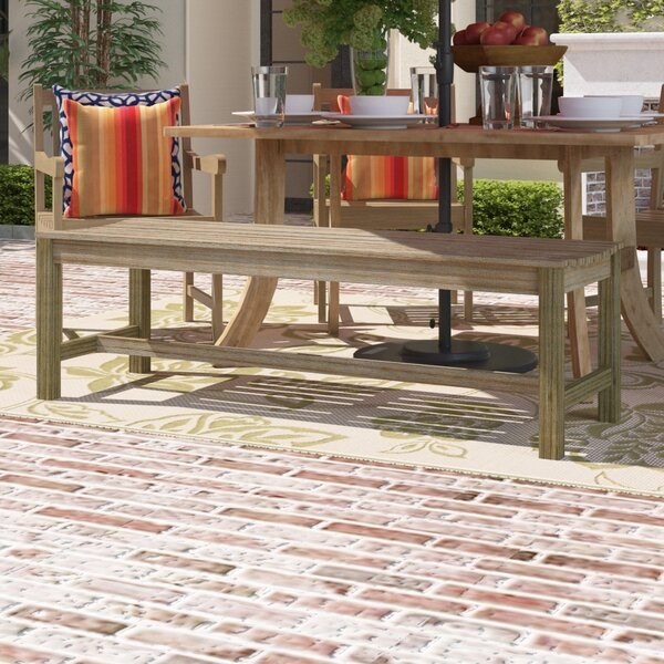 Densmore Wood Picnic Bench by Darby Home Co