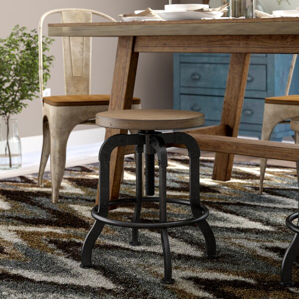 Fort Oglethorpe Adjustable Height Bar Stool by Laurel Foundry Modern Farmhouse