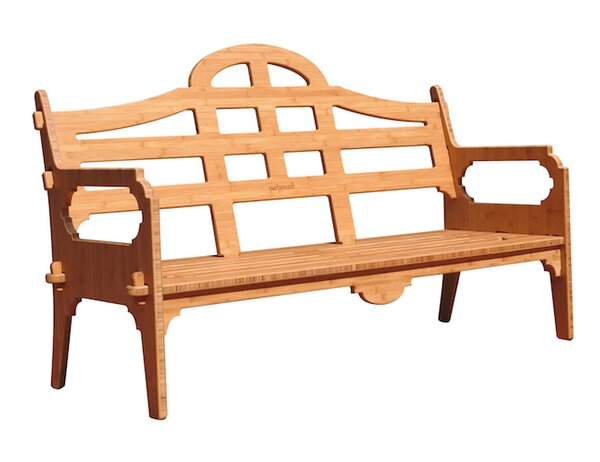 Burliegh Wooden Garden Bench by Loon Peak
