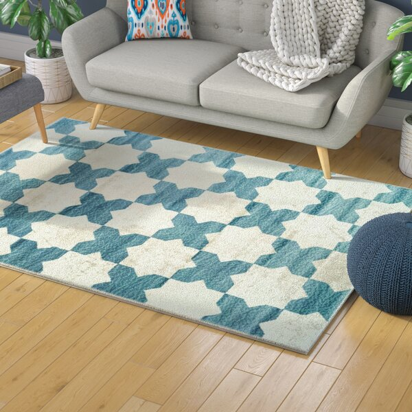 Bannerdown Clover Teal Area Rug by Latitude Run