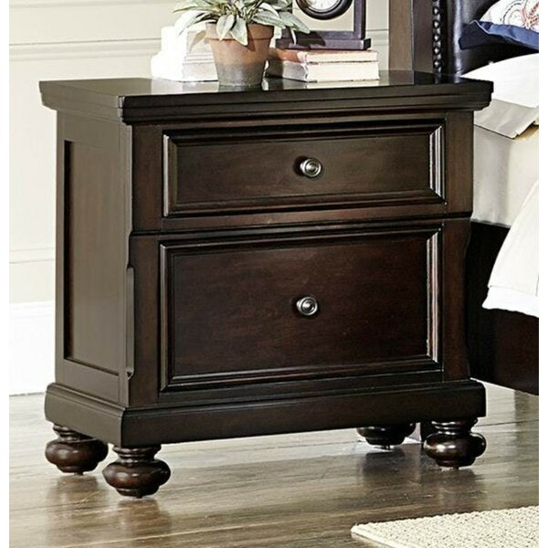 Fearn Wooden 2 Drawer Nightstand by Darby Home Co Darby Home Co
