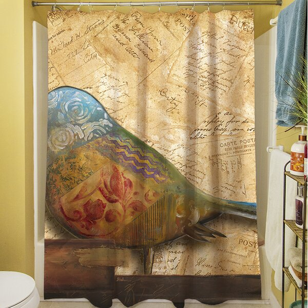 Bird Printed Shower Curtain by East Urban Home