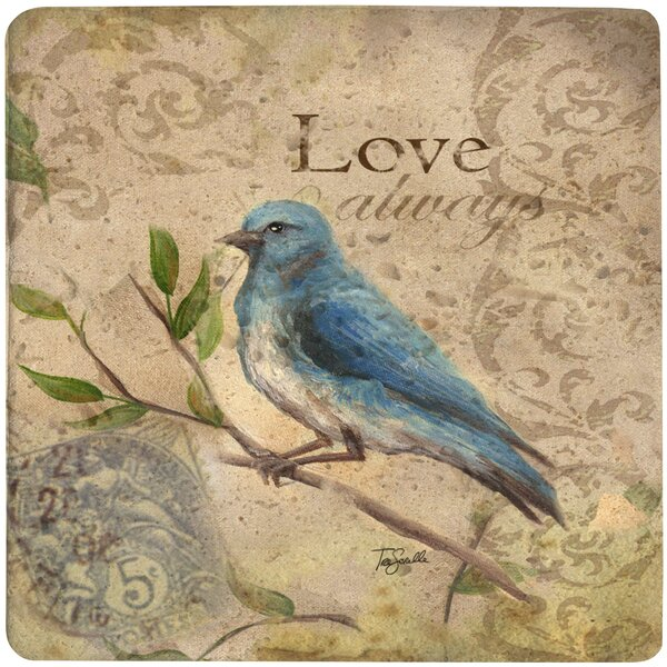 Love Song Bird Travertine Ambiance Trivet by Thirstystone