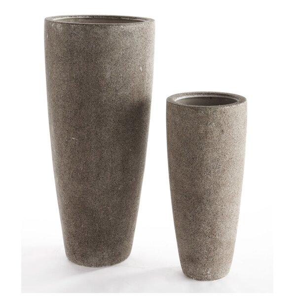 Galloway 2-Piece Composite Pot Planter Set by Brayden Studio
