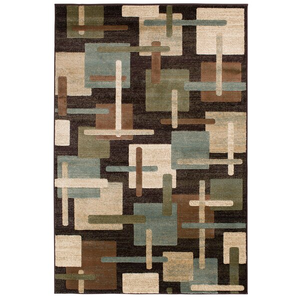 Crawford Brown/Green Area Rug by Threadbind