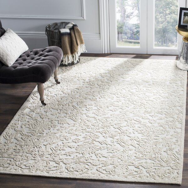Marys Hand Tufted Wool Ivory Area Rug by Rosdorf Park