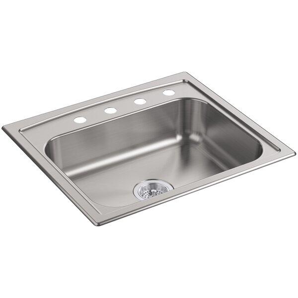 Toccata 25 L x 22 W x 6 Top-Mount Single-Bowl Kitchen Sink by Kohler